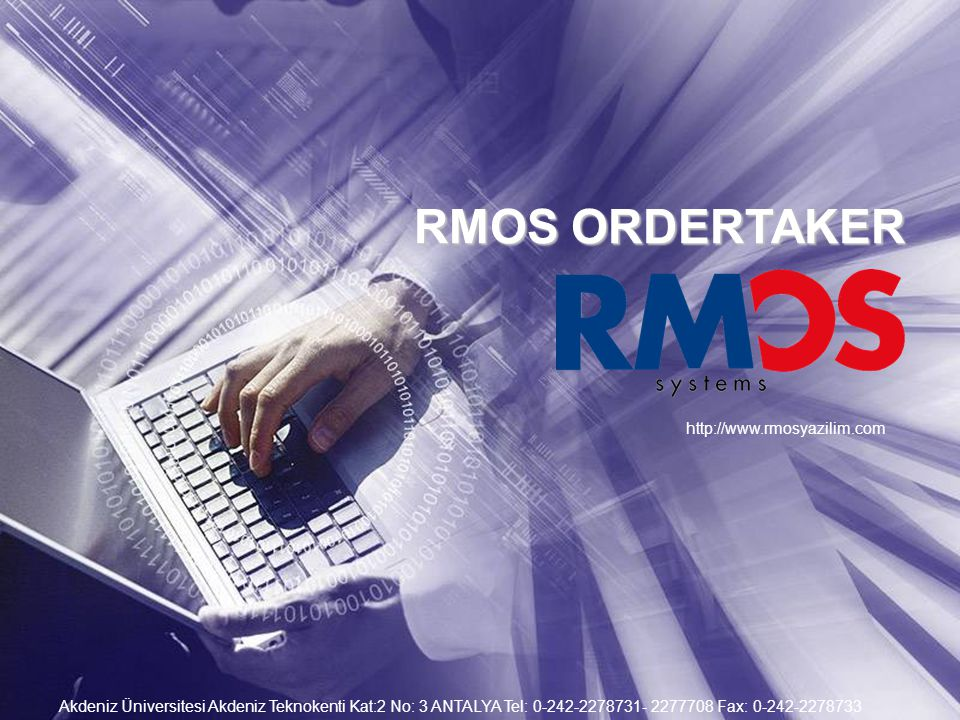 RMOS ORDERTAKER http://www.rmosyazilim.com