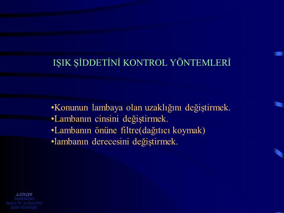 IŞIK ŞİDDETİNİ KONTROL YÖNTEMLERİ