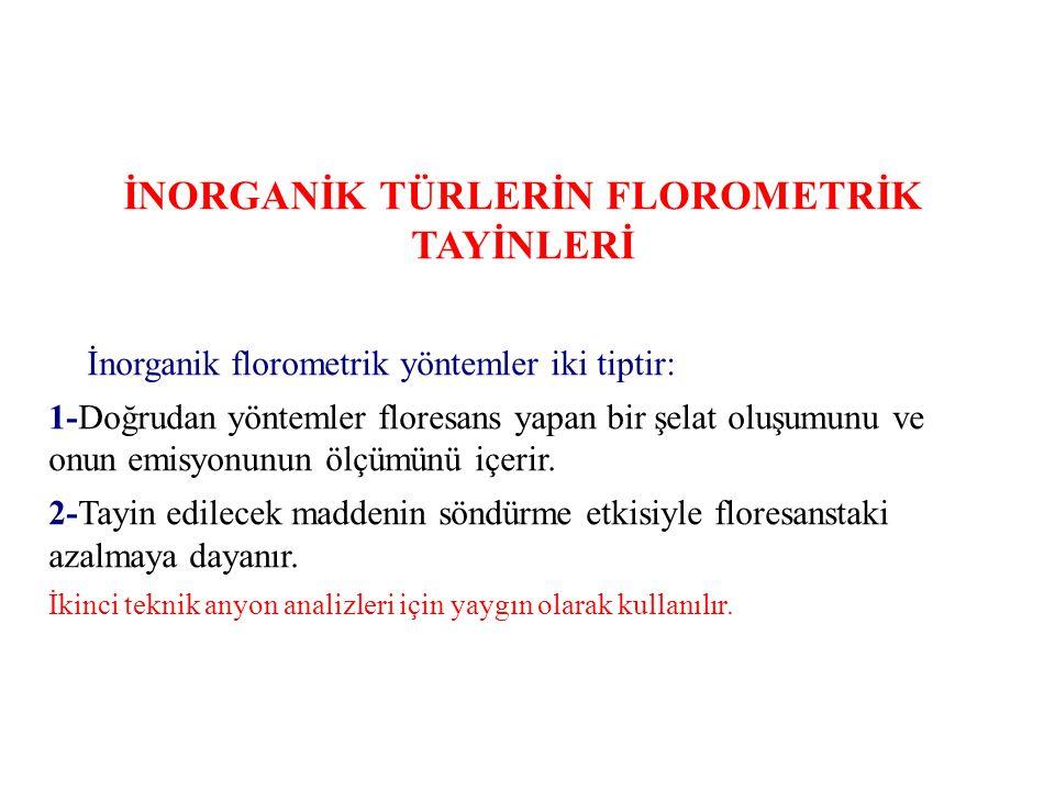 İNORGANİK TÜRLERİN FLOROMETRİK TAYİNLERİ