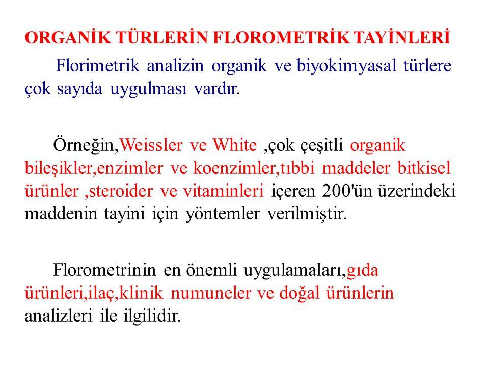 ORGANİK TÜRLERİN FLOROMETRİK TAYİNLERİ
