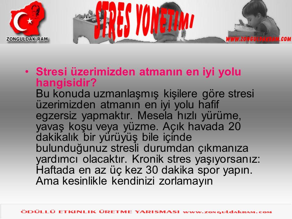 Stresi üzerimizden atmanın en iyi yolu hangisidir