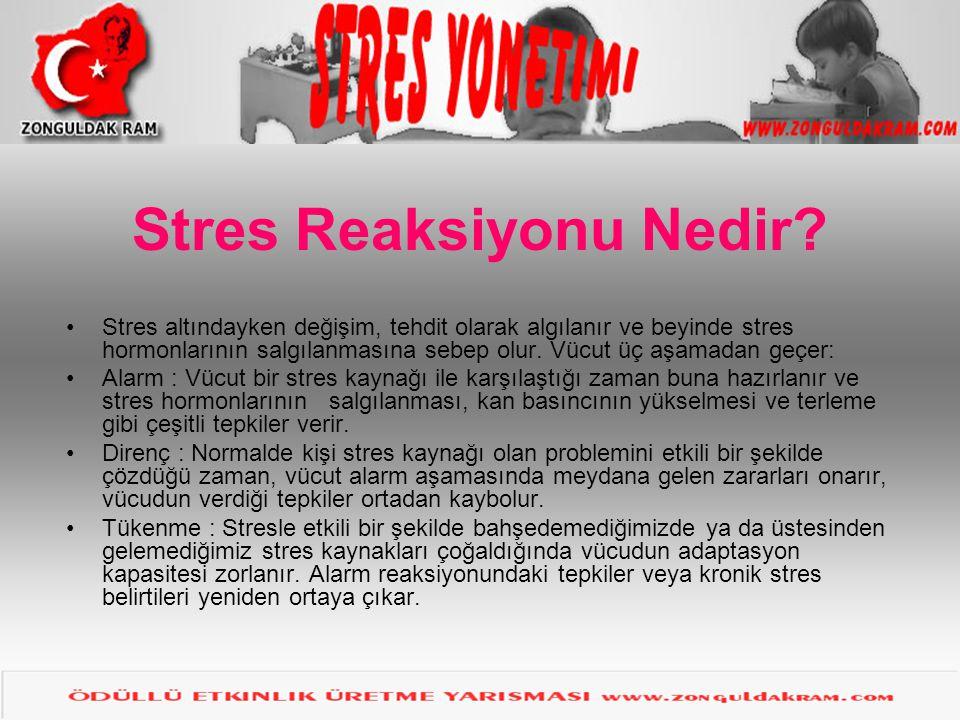 Stres Reaksiyonu Nedir
