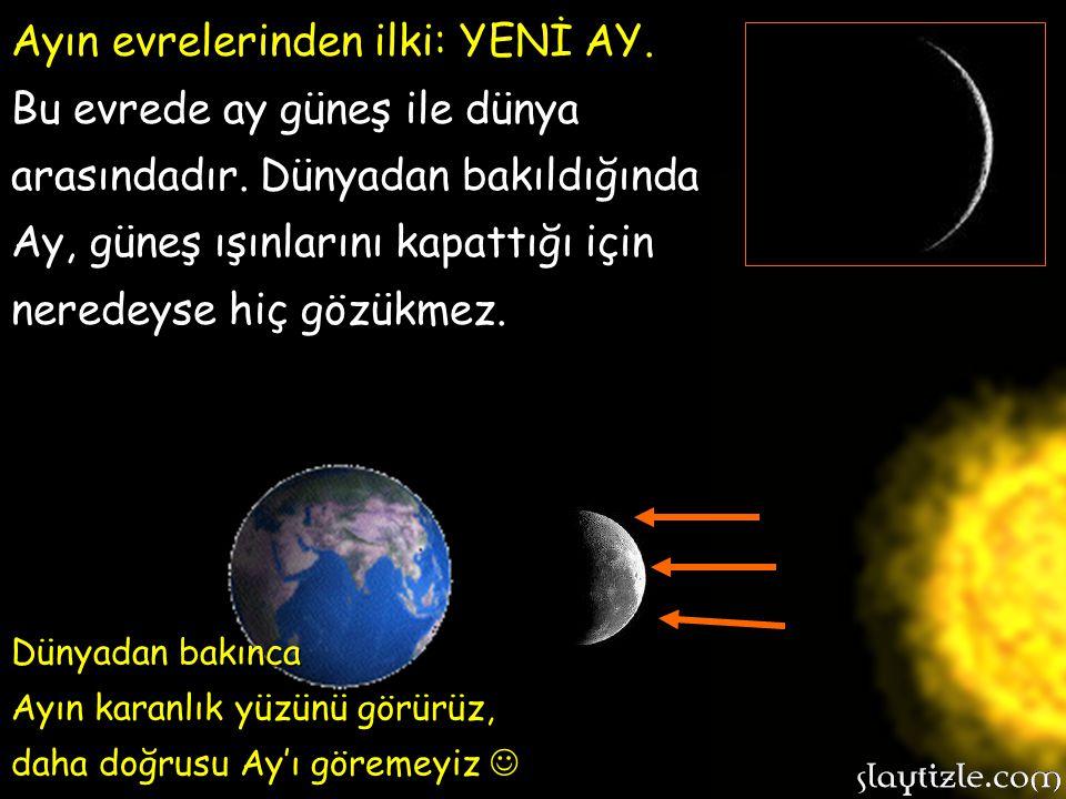 Ayın evrelerinden ilki: YENİ AY.