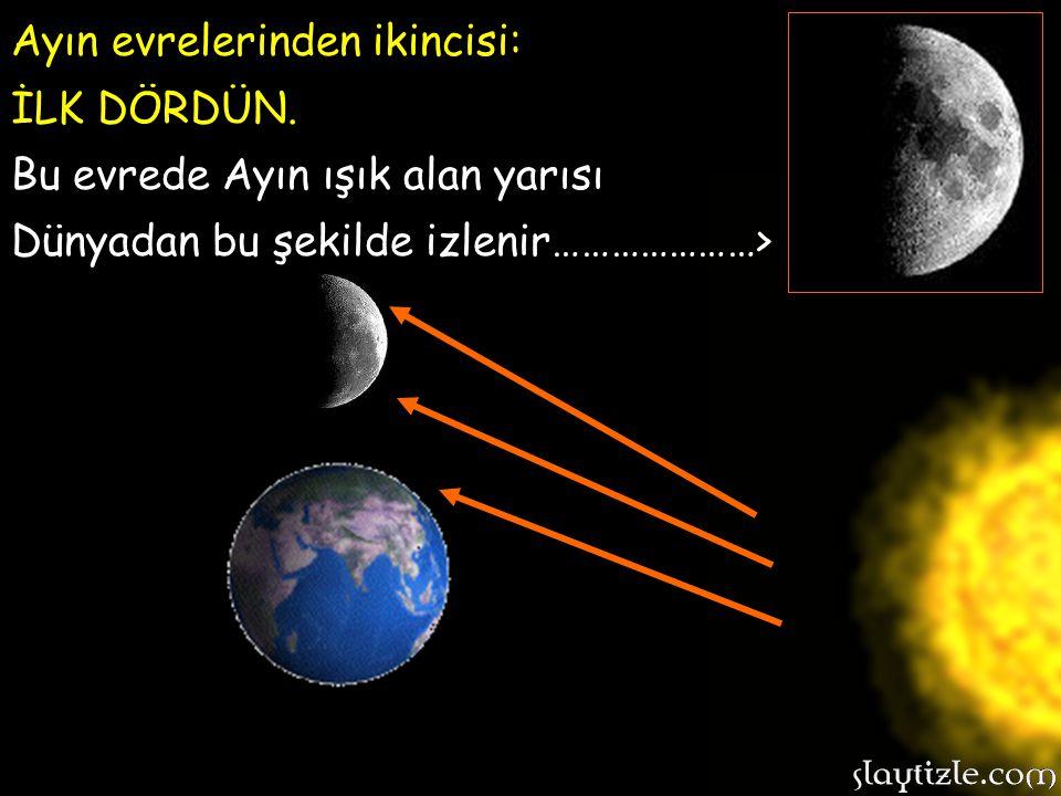 Ayın evrelerinden ikincisi: