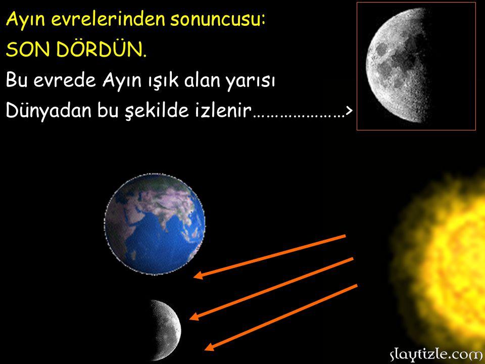 Ayın evrelerinden sonuncusu: