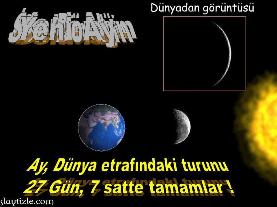 Ay, Dünya etrafındaki turunu