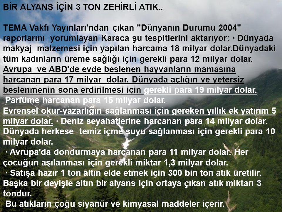 BİR ALYANS İÇİN 3 TON ZEHİRLİ ATIK..