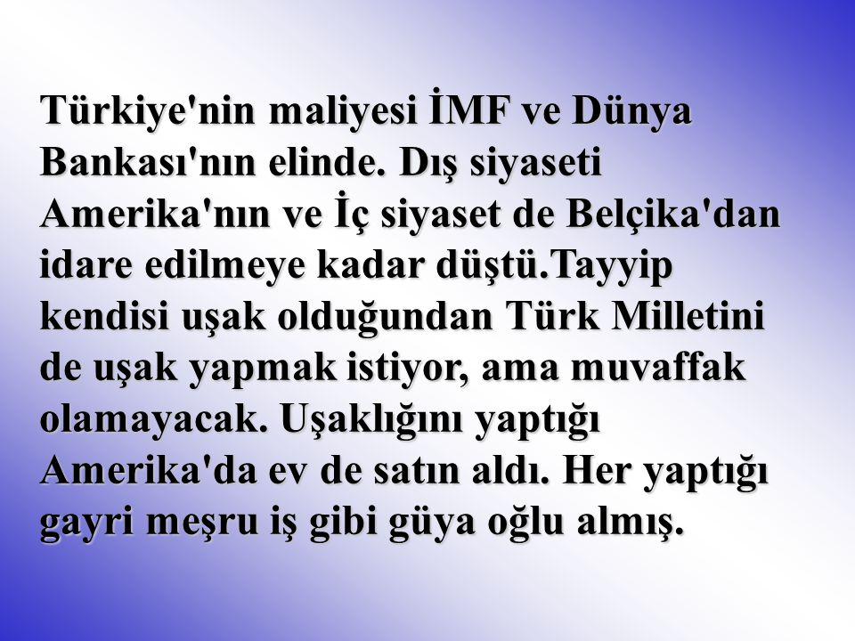 Türkiye nin maliyesi İMF ve Dünya Bankası nın elinde