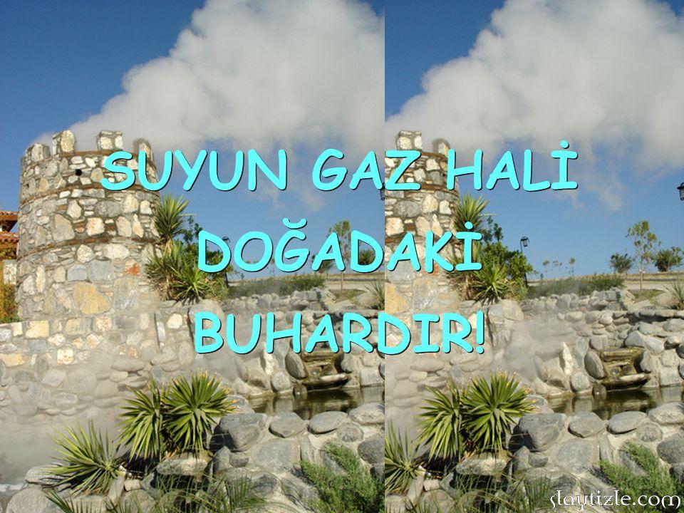 SUYUN GAZ HALİ DOĞADAKİ BUHARDIR!