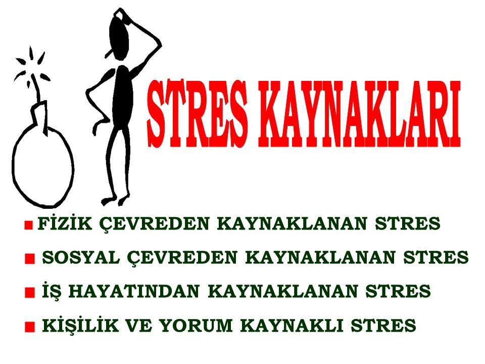 STRES KAYNAKLARI SOSYAL ÇEVREDEN KAYNAKLANAN STRES