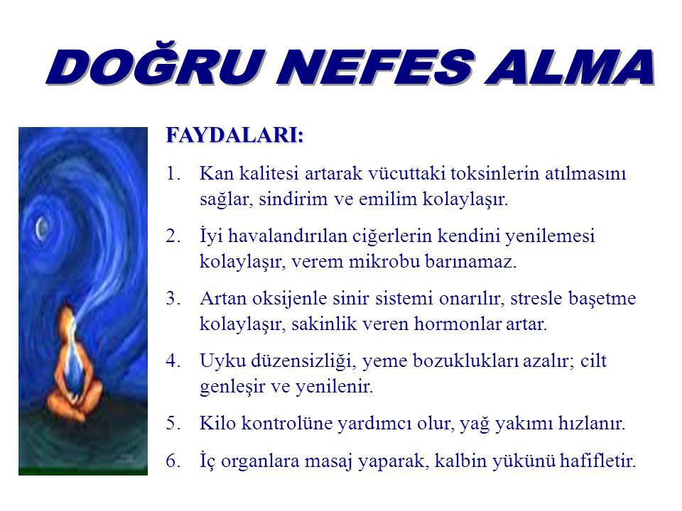 DOĞRU NEFES ALMA FAYDALARI: