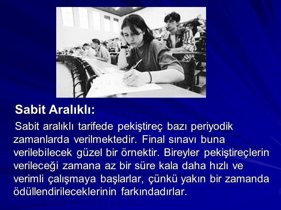 Sabit Aralıklı: