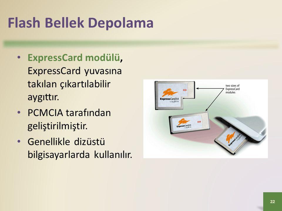 Flash Bellek Depolama ExpressCard modülü, ExpressCard yuvasına takılan çıkartılabilir aygıttır. PCMCIA tarafından geliştirilmiştir.