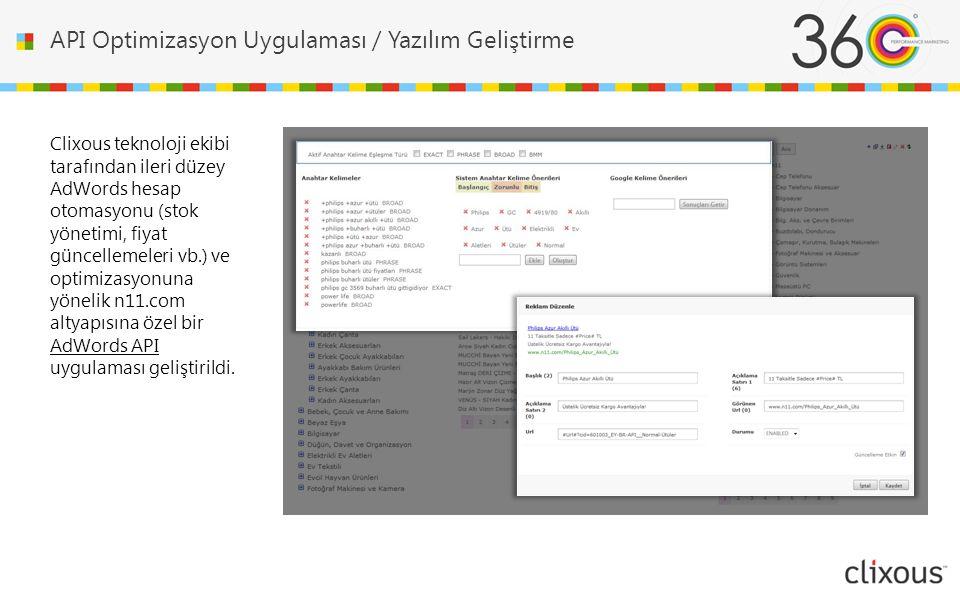 API Optimizasyon Uygulaması / Yazılım Geliştirme