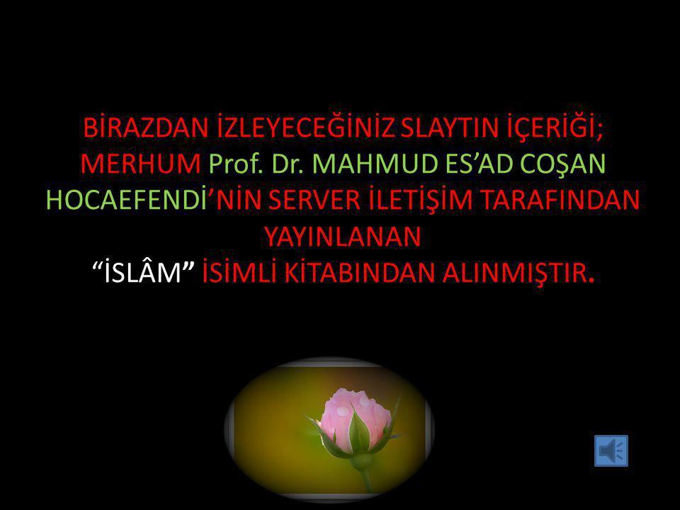 BİRAZDAN İZLEYECEĞİNİZ SLAYTIN İÇERİĞİ; MERHUM Prof. Dr