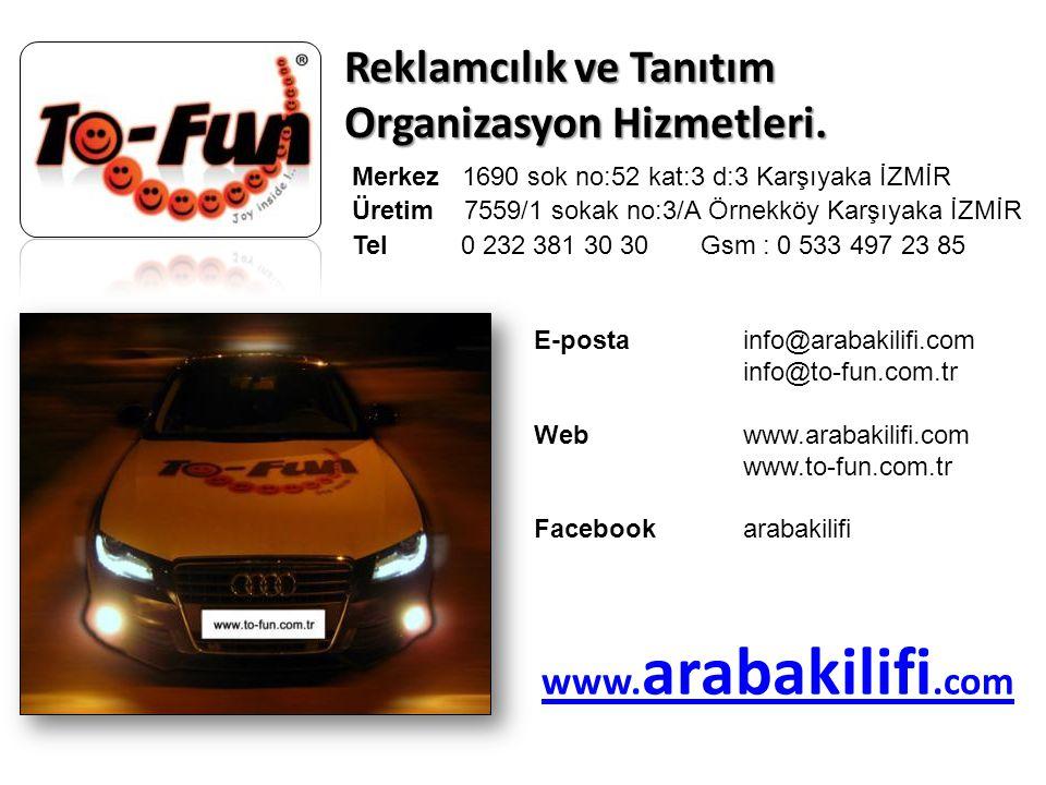 Reklamcılık ve Tanıtım Organizasyon Hizmetleri.