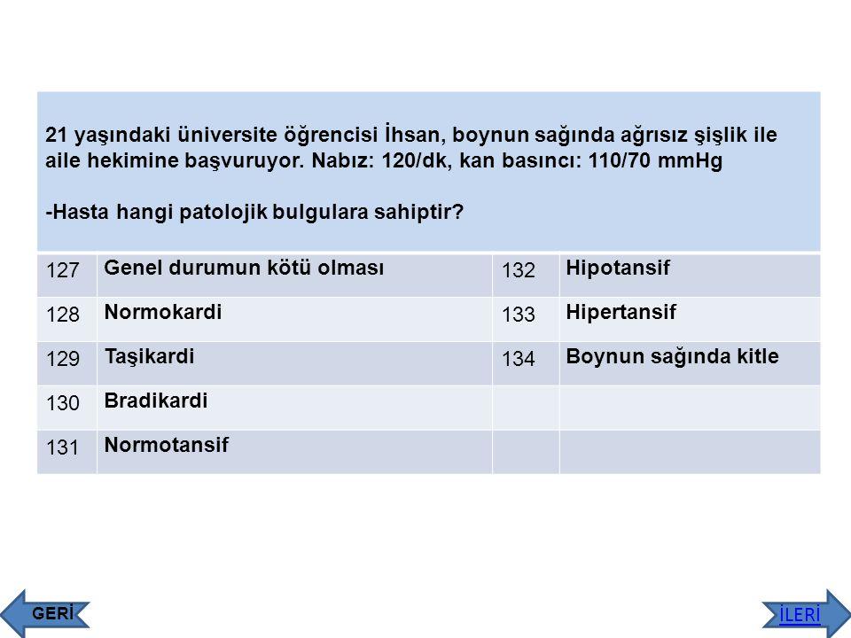 -Hasta hangi patolojik bulgulara sahiptir 127