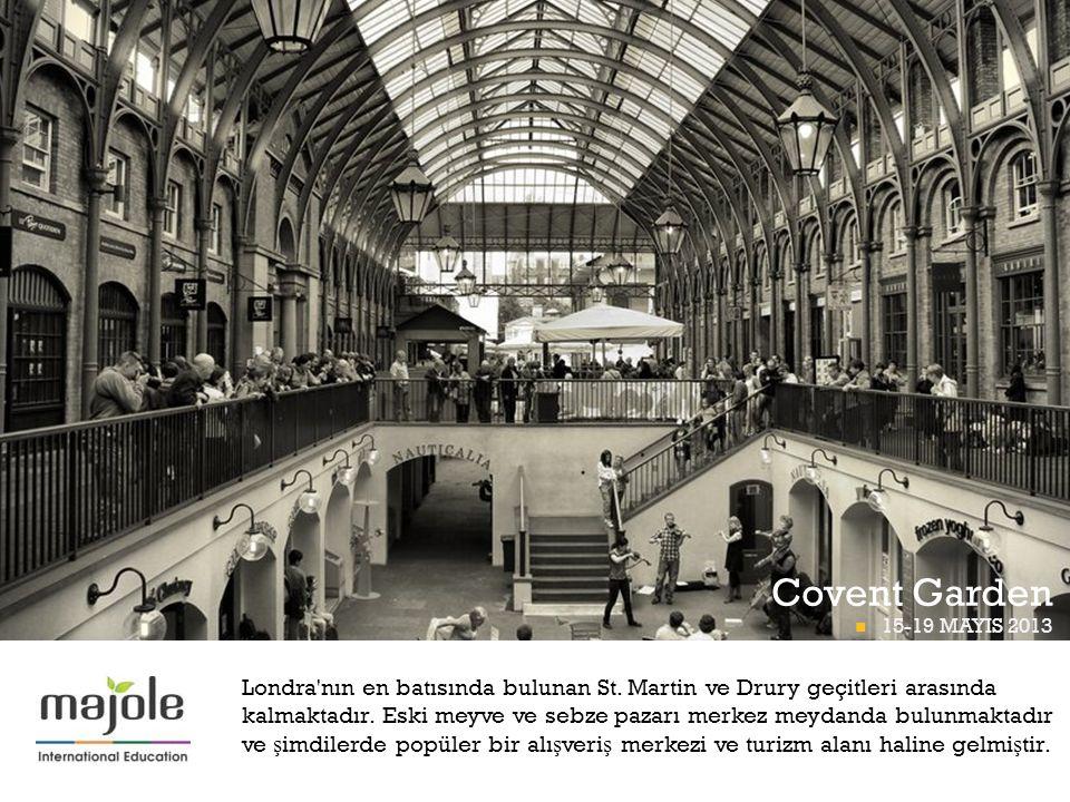 Covent Garden BETT PROGRAMI