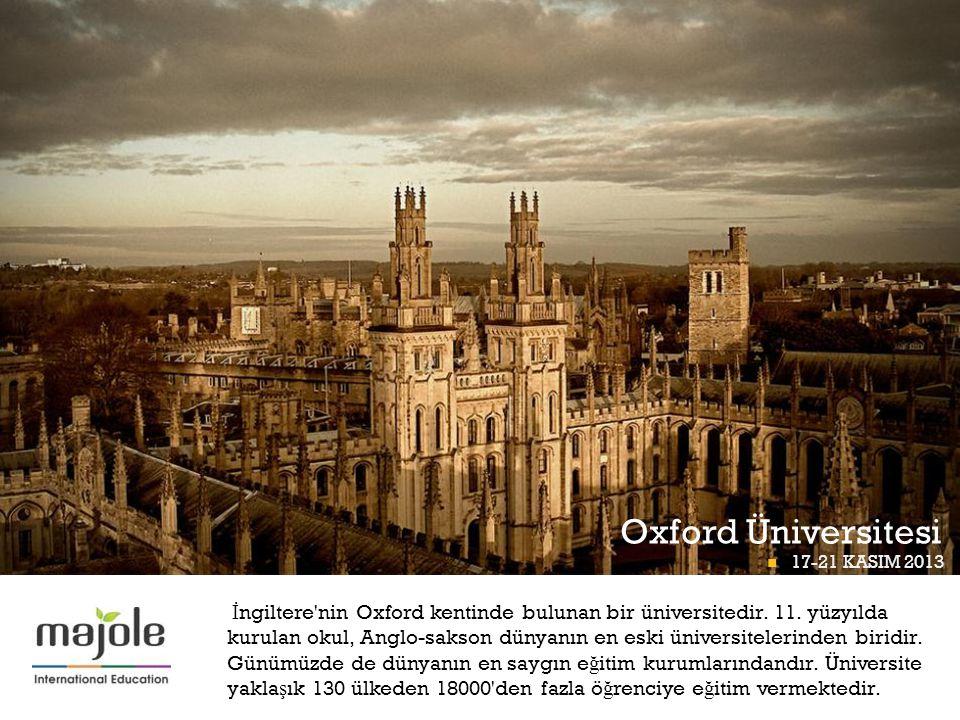 Oxford Üniversitesi BETT PROGRAMI