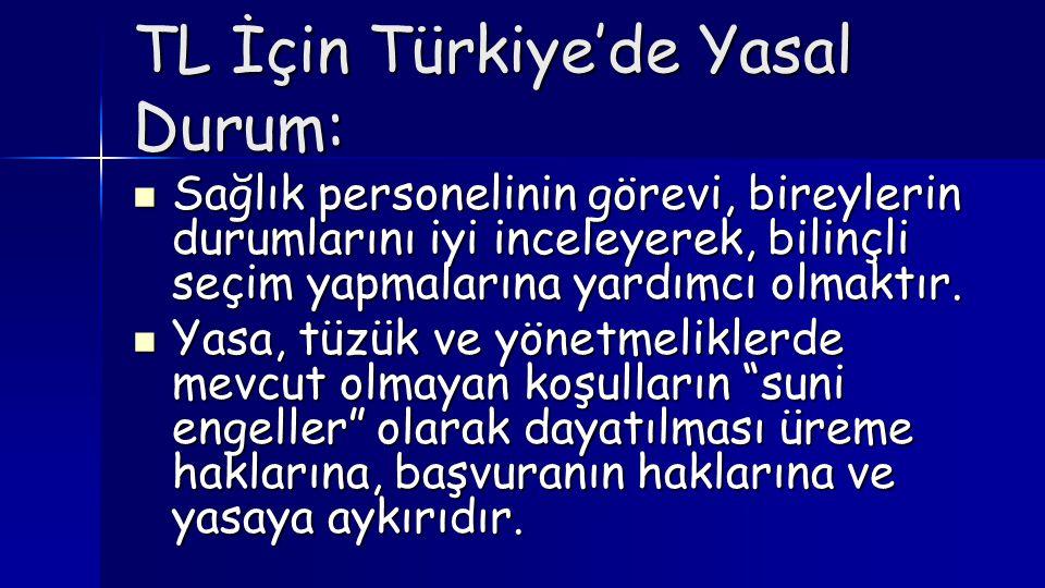 TL İçin Türkiye'de Yasal Durum: