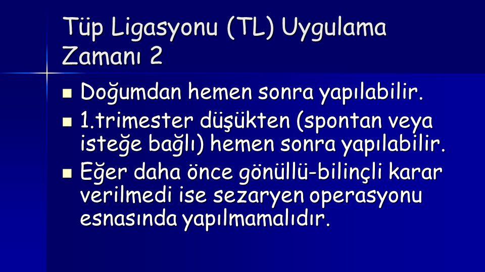 Tüp Ligasyonu (TL) Uygulama Zamanı 2