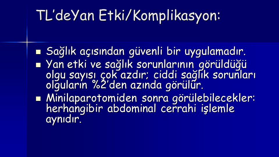 TL'deYan Etki/Komplikasyon: