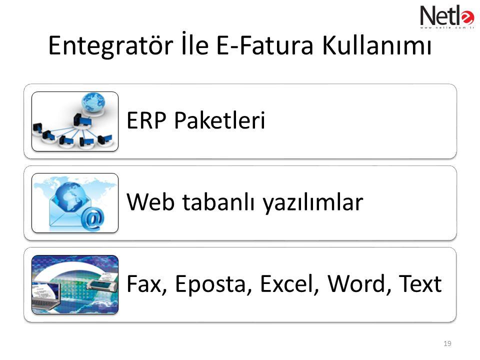 Entegratör İle E-Fatura Kullanımı