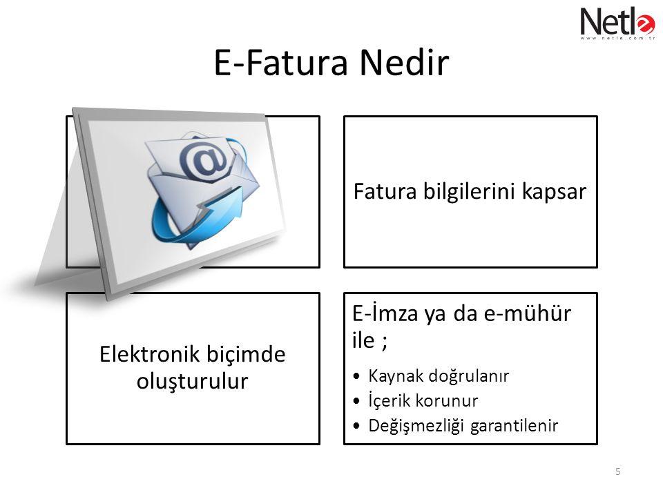 E-Fatura Nedir Fatura bilgilerini kapsar E-İmza ya da e-mühür ile ;