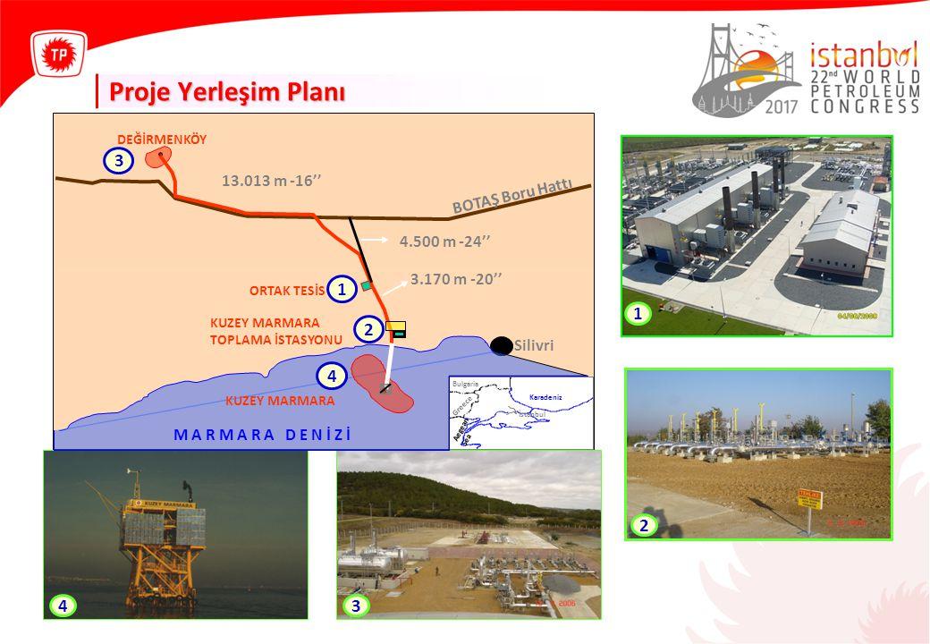 Proje Yerleşim Planı 2 1 3 4 1 2 4 3 13.013 m -16'' BOTAŞ Boru Hattı