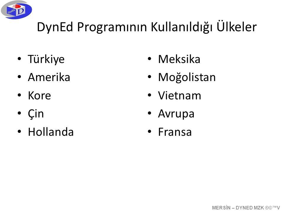 DynEd Programının Kullanıldığı Ülkeler