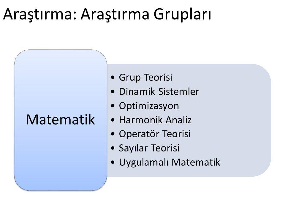 Araştırma: Araştırma Grupları