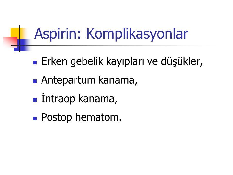Aspirin: Komplikasyonlar