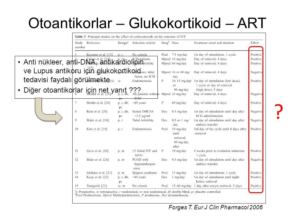 Otoantikorlar – Glukokortikoid – ART