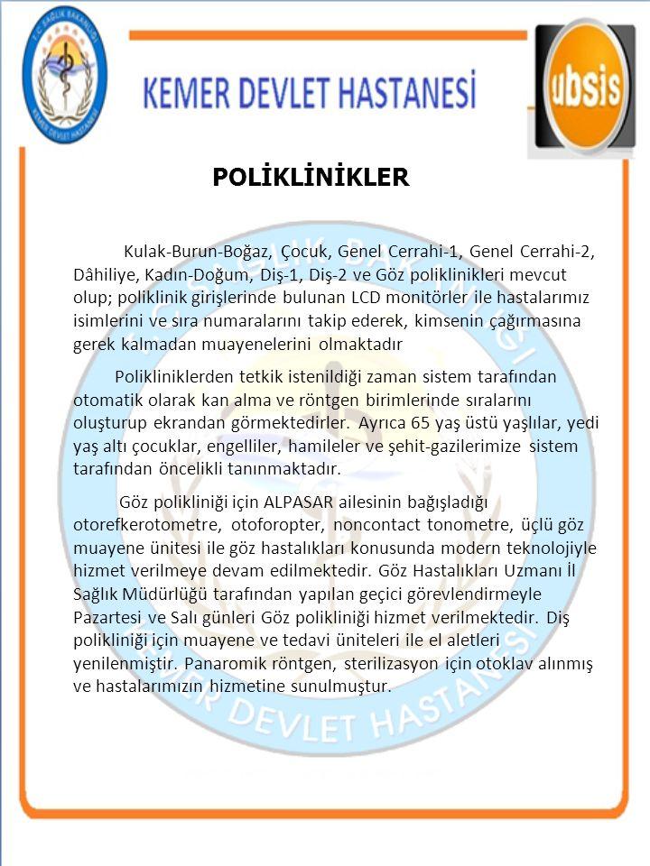 4. POLİKLİNİKLER