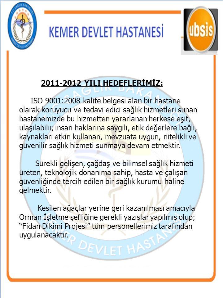 2011-2012 YILI HEDEFLERİMİZ:
