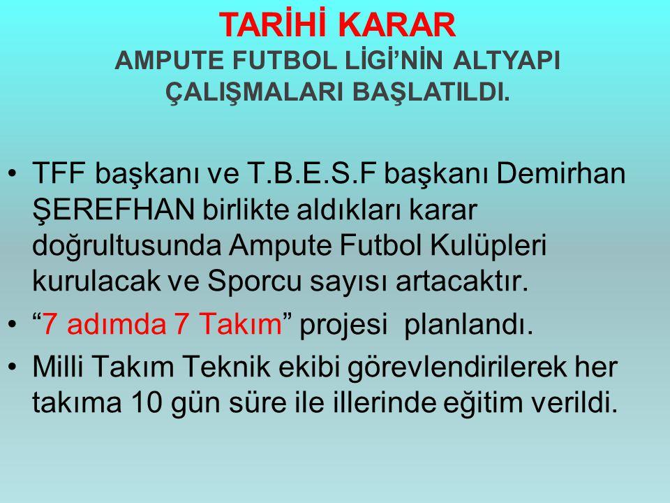 AMPUTE FUTBOL LİGİ'NİN ALTYAPI ÇALIŞMALARI BAŞLATILDI.