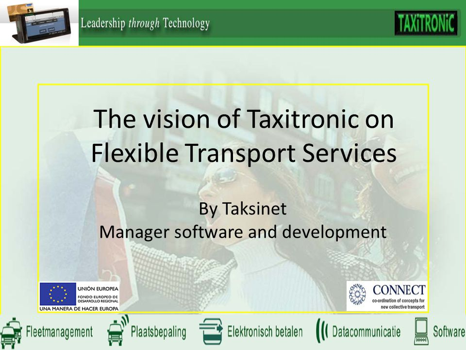 The vision of Taxitronic on Flexible Transport Services