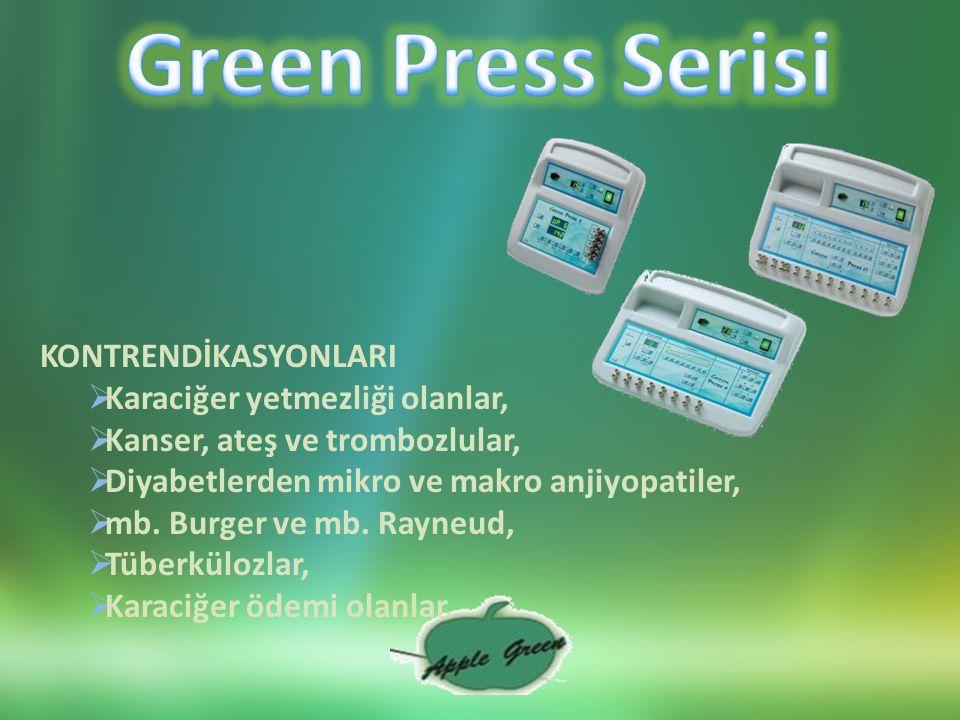 Green Press Serisi KONTRENDİKASYONLARI Karaciğer yetmezliği olanlar,