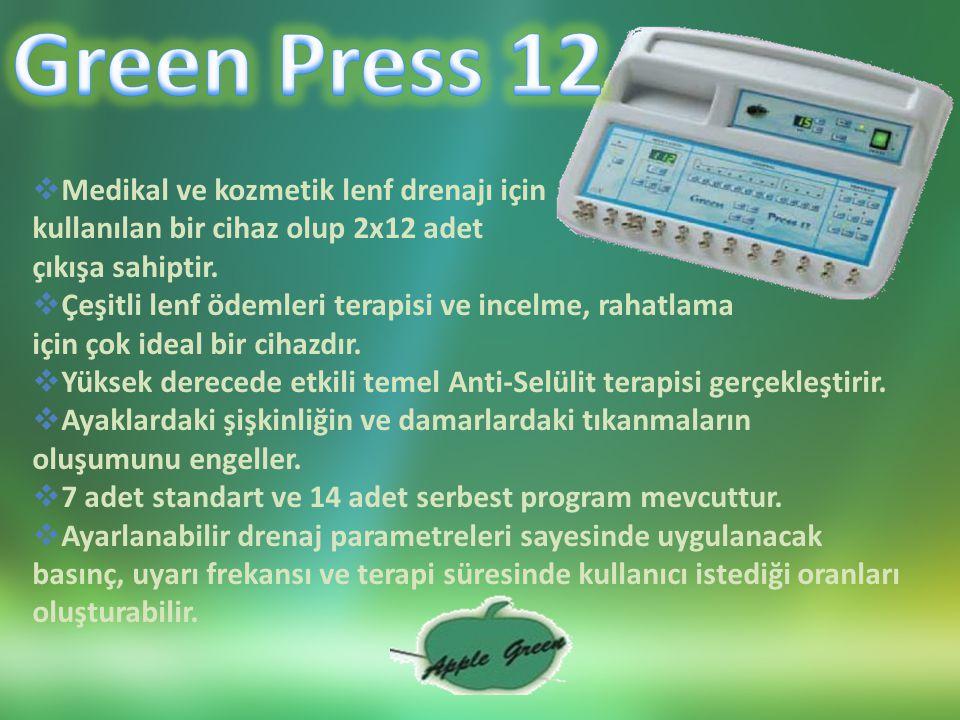 Green Press 12 Medikal ve kozmetik lenf drenajı için