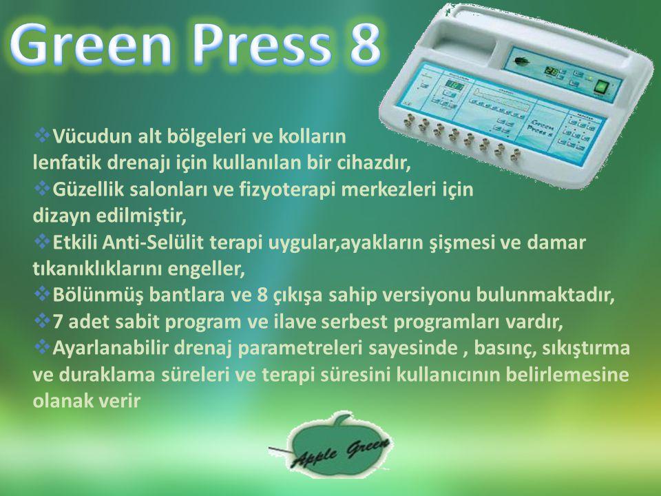 Green Press 8 Vücudun alt bölgeleri ve kolların