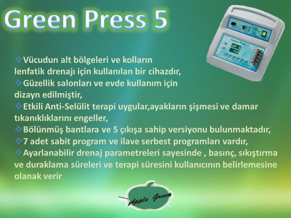 Green Press 5 Vücudun alt bölgeleri ve kolların