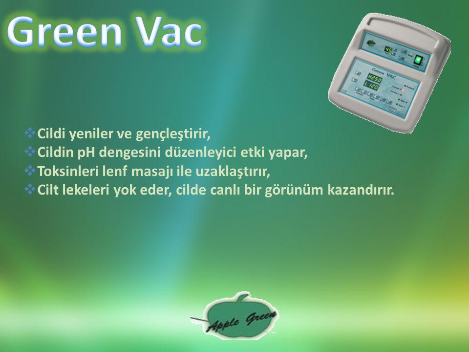 Green Vac Cildi yeniler ve gençleştirir,