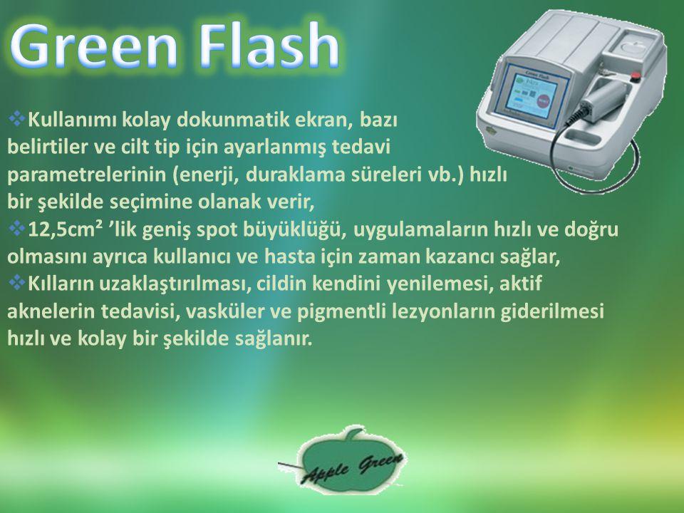 Green Flash Kullanımı kolay dokunmatik ekran, bazı