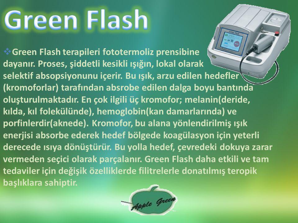 Green Flash Green Flash terapileri fototermoliz prensibine