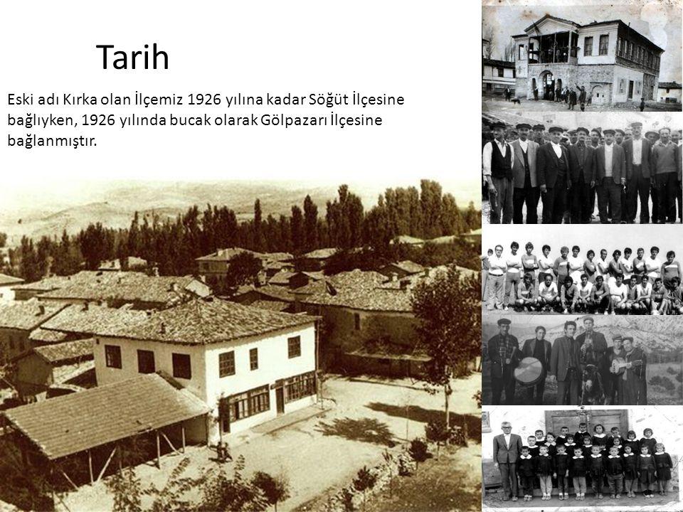 Tarih Eski adı Kırka olan İlçemiz 1926 yılına kadar Söğüt İlçesine bağlıyken, 1926 yılında bucak olarak Gölpazarı İlçesine bağlanmıştır.