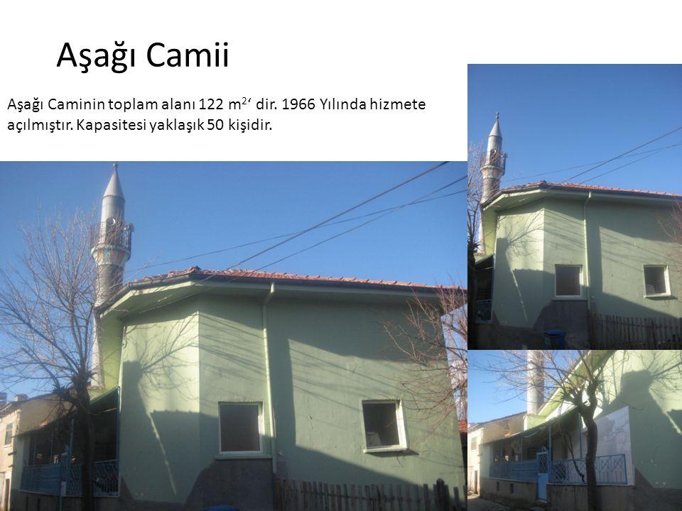 Aşağı Camii Aşağı Caminin toplam alanı 122 m2' dir.