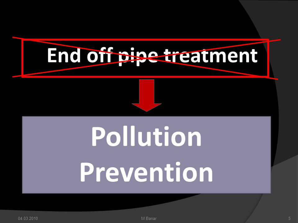 End off pipe treatment Pollution Prevention M.Banar