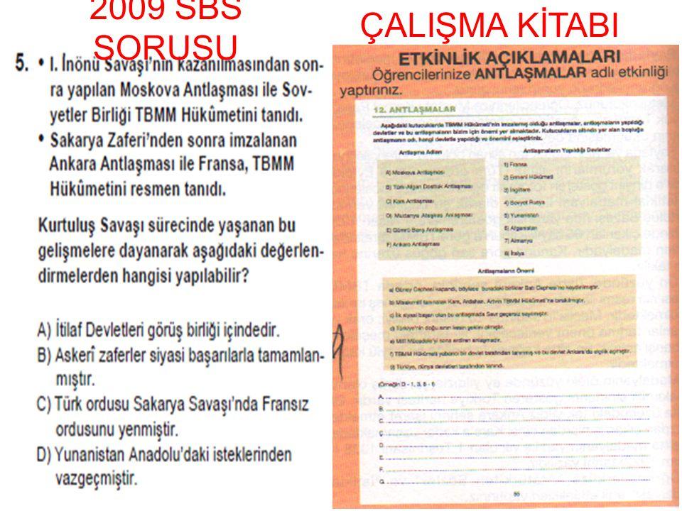 2009 SBS SORUSU ÇALIŞMA KİTABI
