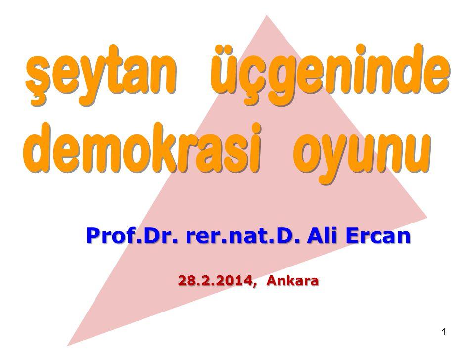 Prof.Dr. rer.nat.D. Ali Ercan