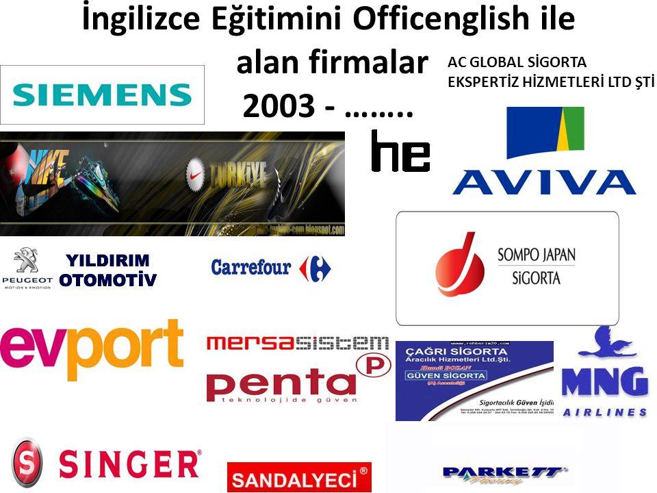 İngilizce Eğitimini Officenglish ile alan firmalar 2003 - ……..
